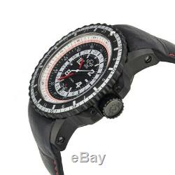GV2 by Gevril Men's 3501 Contasecondi Automatic Black Leather Date Watch