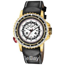 GV2 by Gevril Men's 3503 Contasecondi Automatic Black Leather Date Watch