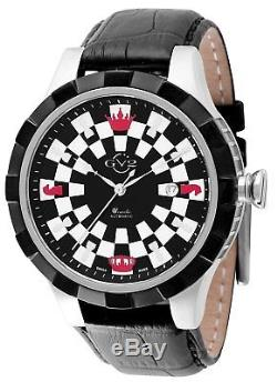GV2 by Gevril Men's 9500 Scacchi Automatic Limited Edition Black Leather Watch