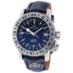 Glycine 3918.18.66. LBK8 Men's Airman 18 Purist Automatic 39mm Blue Dial Watch