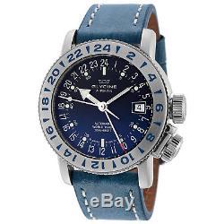 Glycine 3918.18. LB8B Men's Airman 18 GMT Automatic 39mm Blue Dial Watch GL0221