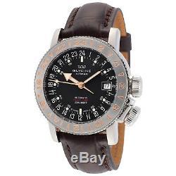 Glycine 3918.196.66. LBK7F Men's Airman 18 Purist Automatic 39mm Black Dial Watch