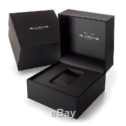 Glycine 3938.18. LB8B Men's Double Twelve Automatic 40mm Blue Dial Blue Leather