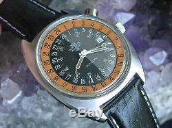 Glycine Airman SST Vintage Stainless Steel Automatic 24-Hour Wrist Watch
