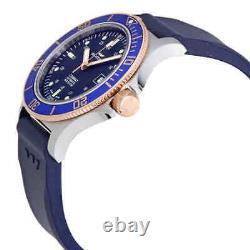 Glycine Combat Sub Automatic Blue Dial Blue Rubber Men's Watch GL0089