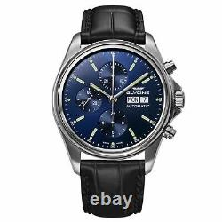 Glycine GL0117 Men's Combat Classic Chronograph Blue Automatic Watch
