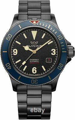 Glycine GL0291 Men's Combat Sub 42 Vintage Automatic 42mm Black PVD Watch