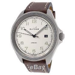 Glycine Men's 3898.14T. SB-LB7BF Combat 7 Automatic 42mm Sandblasted Steel Watch