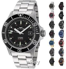 Glycine Men's 3908 Combat Sub Automatic 42mm Watch Choice of Color