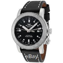 Glycine Men's 3954.191. LB9B Airman 42 Automatic GMT 42mm Black Dial GL0066