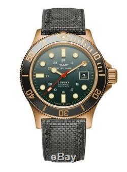 Glycine Men's GL0281 Combat Sub 42 Bronze Automatic 42mm Grey-Green Dial Watch