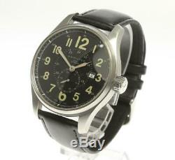 HAMILTON Khaki Officer H706550 Date Black Dial Automatic Men's Watch 548066