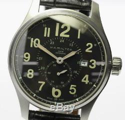HAMILTON Khaki officer H706550 Automatic Leather belt Men's Watch 467651