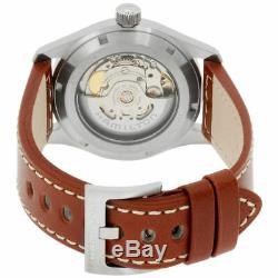 Hamilton H70455533 Automatic Khaki Field Black Dial Leather Strap Watch