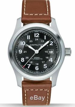 Hamilton H70555533 Men's Khaki Field 42mm Brown Leather Strap Automatic Watch