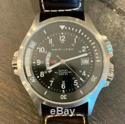 Hamilton Khaki Navy GMT Black Dial Automatic Men's Watch H77615833