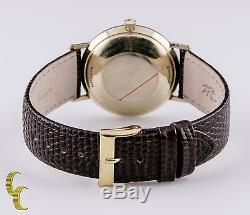 Hamilton Men's 14K Yellow Gold Automatic Watch with Brown Leather Band