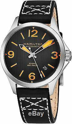 Hamilton Men's Khaki Aviation H76235731 38mm Black Dial Automatic Watch