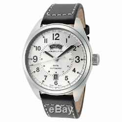 Hamilton Men's Khaki Field H70505753 42mm Silver Dial Leather Automatic Watch