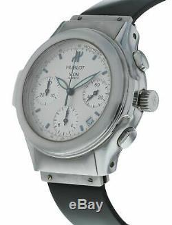 Hublot Elegant Chronograph Automatic 40mm Men's Black Rubber Strap Watch 1810.1