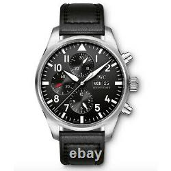 IWC Pilot Steel Chronograph Automatic 43 mm Black Dial Mens Watch IW377709