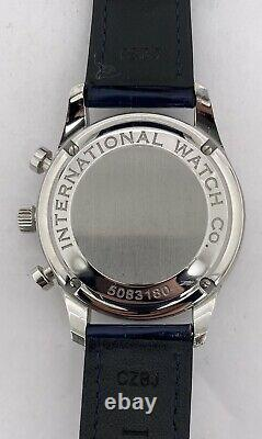 IWC Portuguese Automatic Silver Dial Chronograph with Blue Hands IW371446