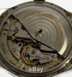 IWC Schaffhausen cal, 852 Automatic Leather belt Men's Watch 456071