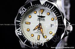 Invicta Men 47mm Grand Diver Automatic Lume White Dial Orange Marker NH35 Watch