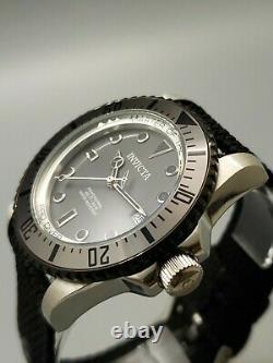 Invicta Men's Pro Diver Automatic Gun Metal Grey, Black Nato Strap 44mm Watch