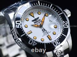 Invicta Mens 300M Grand Diver Creamsicle NH35 Automatic White Lume Dial SS Watch