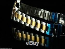Invicta Mens Original Coin Edge PRO DIVER NH35 Automatic Gd 2Tone SS Black Watch