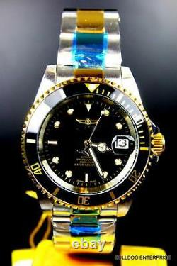 Invicta Pro Diver Silver Gold 2 Tone Black Coin Bezel NH35A Automatic Watch New