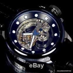 Invicta Russian Diver Ghost Bridge Blue Automatic Skeleton Exhibition Watch New