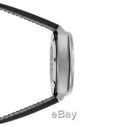 JEANRICHARD Men's Terrascope Leather Strap Automatic Watch 60500-11-002-001