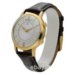 Jaeger-LeCoultre Memovox Alarm 37mm 18k Gold Automatic Leather Men's Watch