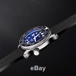 Japan Sharkey NH35 Watch LTM Automatic Wristwatch Tuna Diver Man SBDX001 US