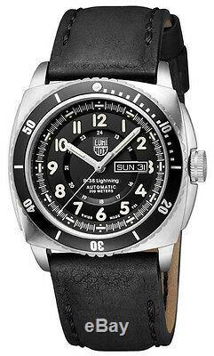 LUMINOX P-38 Lightning Day/Date Automatic Watch, Black A. 9401