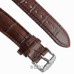 Luxury Men's Skeleton Bridge Leather Steampunk Automatic Mechanical Wrist Watch
