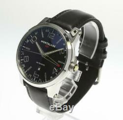 MONTBLANC Timewalker GMT 7069 Automatic Leather Belt Men's Watch 465143