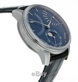 Maurice Lacroix Masterpiece Lune Retrograde Automatic Blue Dial Men's Watch
