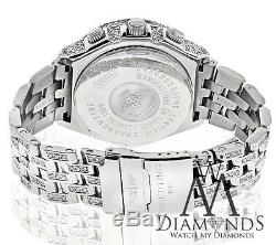 Men's Breitling Watch A44355 White Dial with 15ct Natural Diamonds