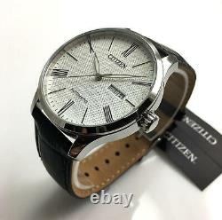 Men's Citizen Dress Automatic Black Leather Strap Watch NH8350-08A