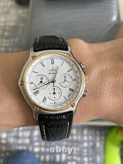 Men's Ebel 18k Gold Zenith El Primero Movement Automatic Swiss Made Watch, Mint