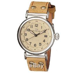 Men's Glycine 3933.15AT LB7R Automatic F 104 Tan Dial Brown Leather Watch