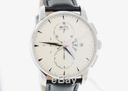 Men's Mido Baroncelli Automatic M860741142 Black Leather Strap Watch