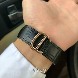 Mens Automatic Tourbillon Mechanical Wrist Watch White Dial Black Leather Strap
