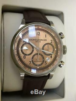 Mens Baume and Mercier Capeland Automatic Chronograph Watch with Copper Dial