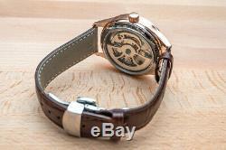 Mens Double Flywheel Open Heart Luxury Bling Skeleton Automatic Mechanical Watch