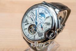 Mens Tourbillion Style Luxury Bling Skeleton Automatic Mechanical Wrist Watch
