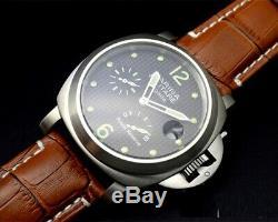 Military regatta power reserve automatic mechanical men's wrist watch